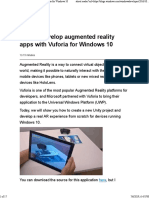 Develop an AR app