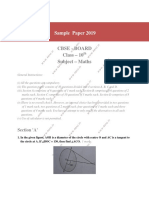 Maths Sample Paper 1