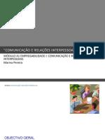 COMUNICAÇÃO E RELAÇÕES INTERPESSOAIS