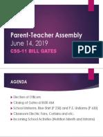 Parent-Teacher Assembly 1st
