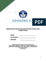 LK 3.1 Memahami Indikator Kompetensi Dan Proses Penilaian