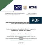 Factores reguladores de conflicto en las escuelas. Estudio comparativo Argentina y Colombia
