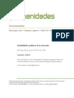 Benjamin Valdivia - Sensibilidad y Políticas de La Sensación (2016)