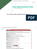 How to Block Websites Using Pfsense Firewall Feature