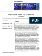 Psychological Stress and Homeostasis
