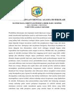 8. Materi MPLS Pembinaan Mental Agama Di Sekolah (1)