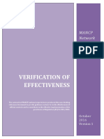 Verification of Effectiveness - MANCP Network - October 2016, version 1