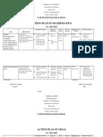 Action Plan in Mathematics