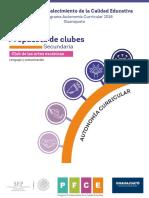 Secundaria Pfce 18 Club Ac Artes.escénicas