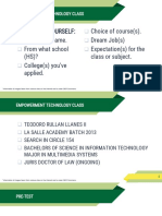 1 Information and Communication Technology