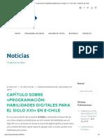 Capítulo Sobre «Programación_ Habilidades Digitales Para El Siglo XXI» en E-Chile – Programa Tus Ideas