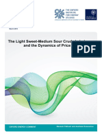 The Light Sweet Medium Sour Crude Imbalance and the Dynamics of Price Differentials