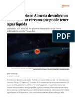 Nuevos Planetas- Un Telescopio en Almería Descubre Un Sistema Solar Cercano Que Puede Tener Agua Líquida - Ciencia - EL PAÍS