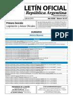 Boletín Oficial República Argentina