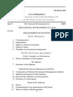 National Environment Act, 2019