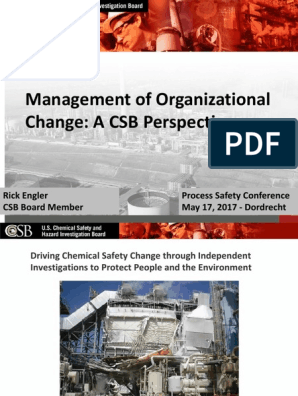 14 rick engler csb organizational change safety occupational safety and health scribd