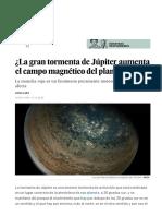 ¿La Gran Tormenta de Júpiter Aumenta El Campo Magnético Del Planeta- - Ciencia - EL PAÍS