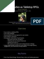 Case Study Tabletop Presentation 2018