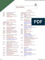 Reglamento Nacional de Edificaciones - Indice