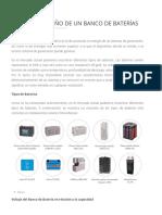 Cálculo y Diseño de Un Banco de Baterías _ Energía Solar Fotovoltaica _ TRITEC-Intervento