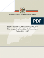 Uganda Electricity Connections Policy (2018 - 2027)