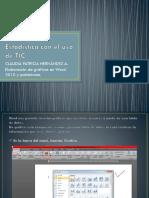 Estadística Con El Uso de TIC