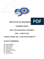 ME COURSE PACK 2019- Managerial Economics