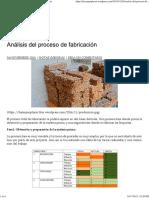 Proceso de fabricación (Briquetas