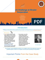A case study on Team Work Challenges on Stryker Corporation.