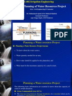 2(b). Planning Water Resources Project