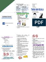 Leaflet Hipertensi prolanis Silvi di Puskesmas Kuamang Kuning X