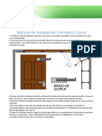 Manual Instalacion Corredizo Curvo Espaa Ol