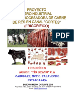 Proyecto Procesadora de Carne en Canal (Cortes)_Frigorífico Agrop, Tío Bravo C.a Oct_2018 COMPLETO