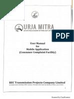 User Manual for Mobile Application of Urja Mitra