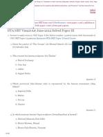 NTA UGC NET Visual Arts Paper 3 Solved June 2012