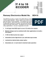 Ramsey BD416- Binary Line Decoder