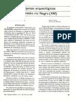 Pesquisas Arqueológicas No Médio Rio Negro (Simões and Kalkmann_1987)