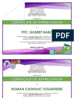 Brigada Eskwela Certificat