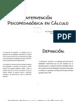 II UNIDAD INTERV PSP CALCULO 2019 1ER PPT DISCALCULIA INTERV.pptx