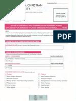 UCU Undergraduate Application Form