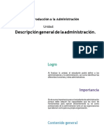 Descripción administración