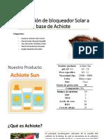 bloqueador solar apartir de semilla de achiote