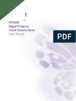 BenQ HT2050 Projector User Manual
