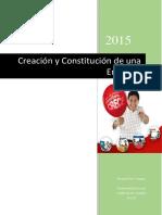 Creación y Constitución de Una Empresa