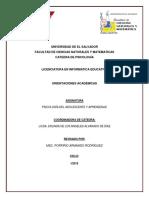 Orientaciones Academicas DPA1109- LISTA FEBRERO 2019