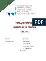 TRABAJO PRACTICO GESTIÓN DE CALIDAD. UNA GUÁRICO