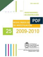Investigaciones en construcción U. Nacional