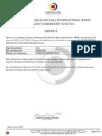 Certificado de Contraloria