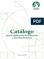 206 - Catálogo para la calificación de violaciones a derechos humanos, segunda edición. Coleccion CODHEM - Obra Colectiva.pdf