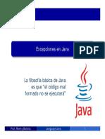 Java Excepciones